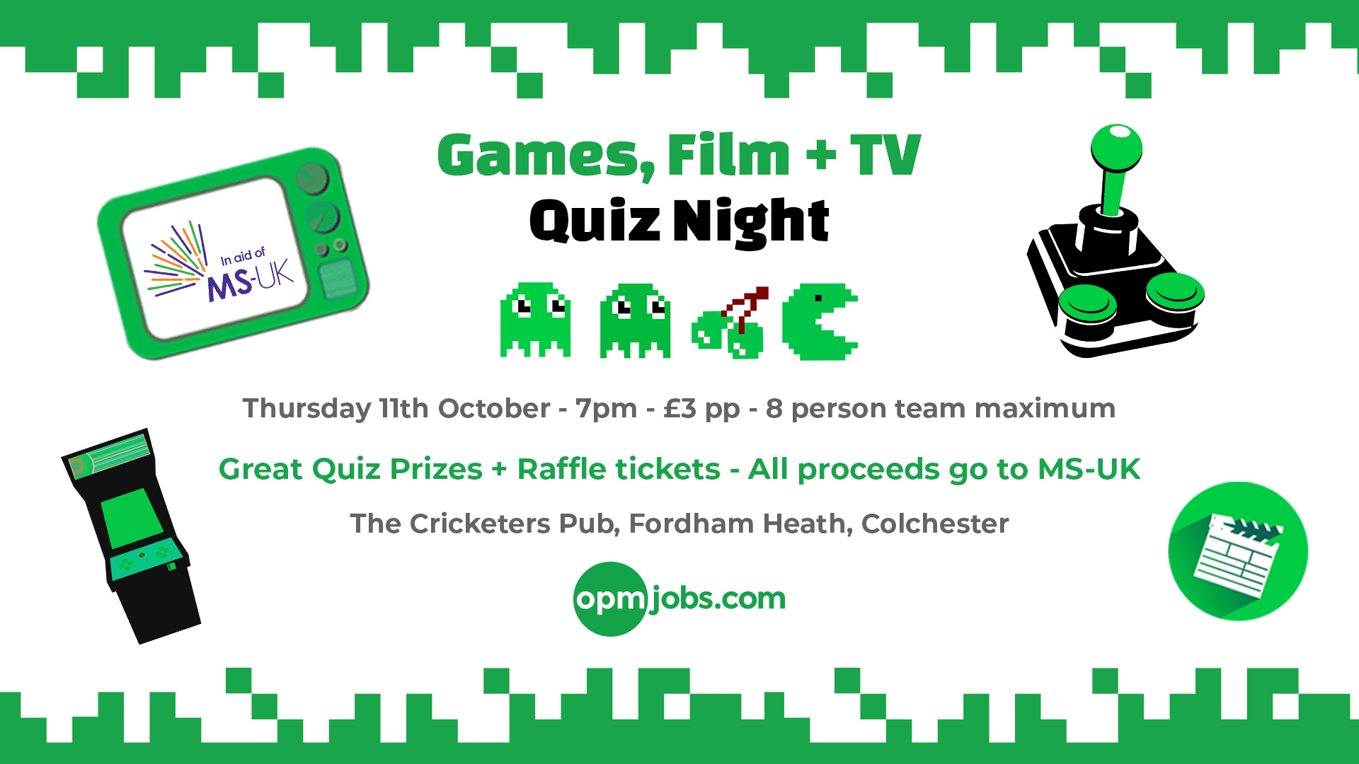 MS-UK Games, Film + TV Quiz – OPM Recruitment