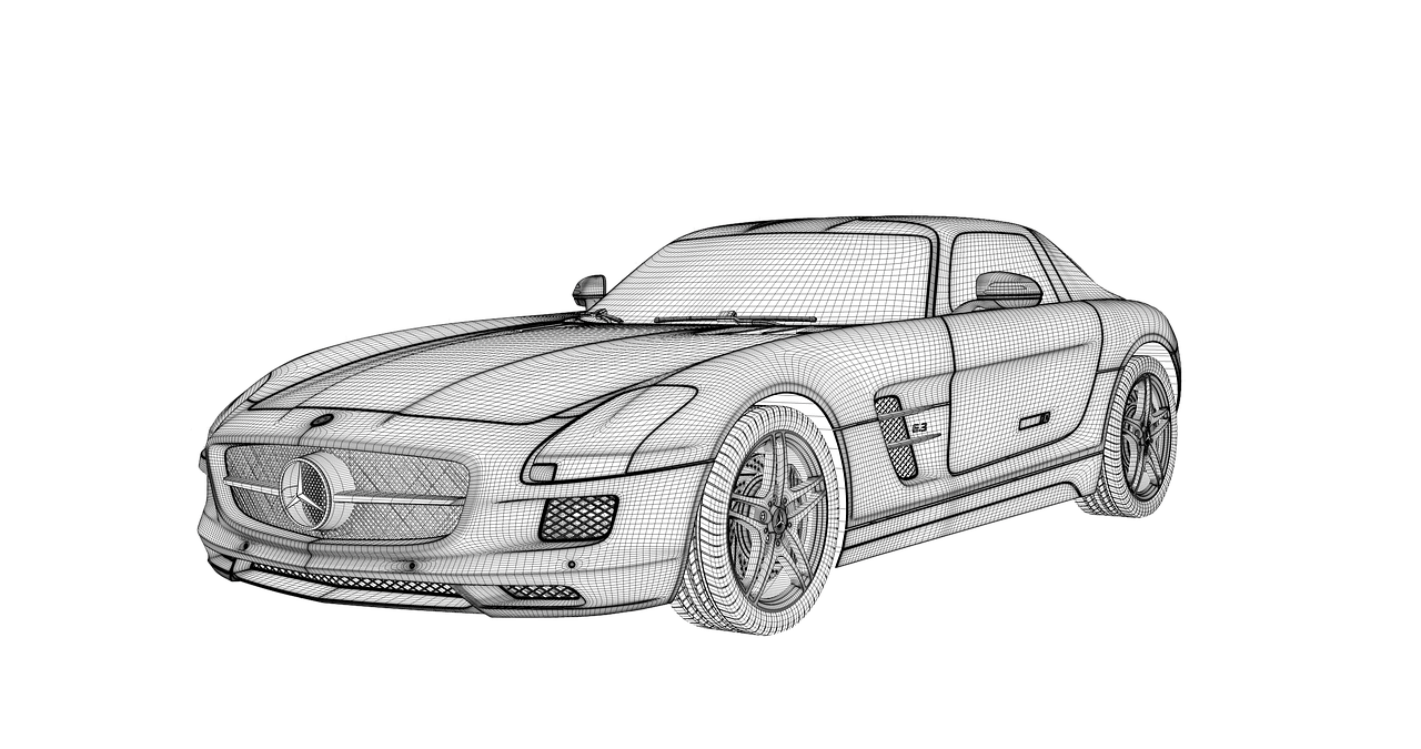 2D to 3D Car Sketch - OPM Jobs 3D Animation Jobs